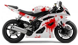 esempio di una moto decorata con gli adesivi cast