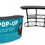 Esempio di banchetto promozionale POP UP COUNTER