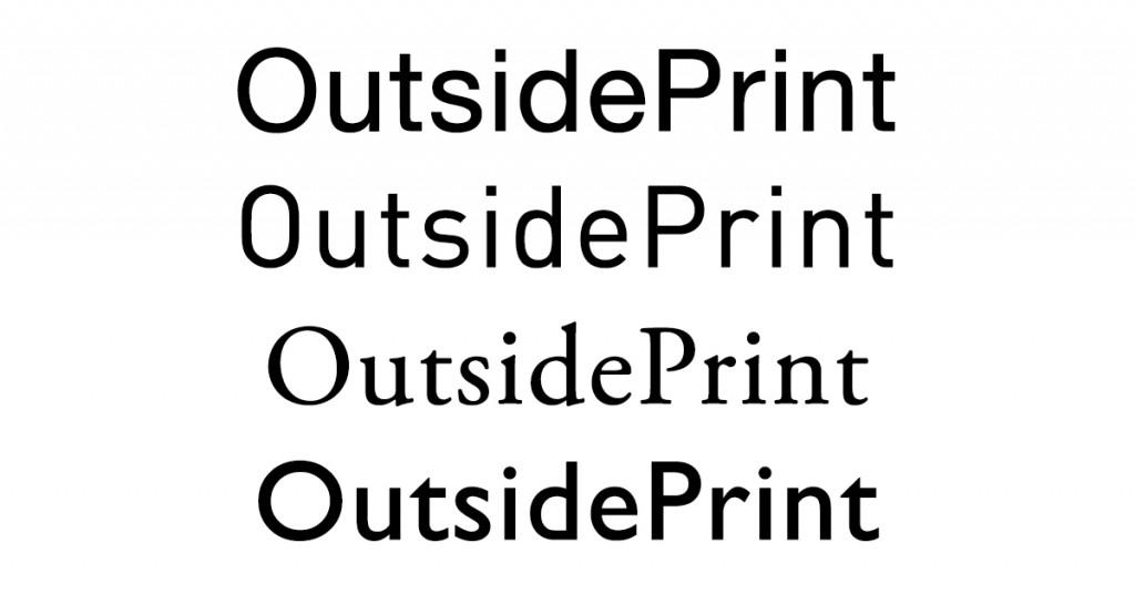 esempi di font