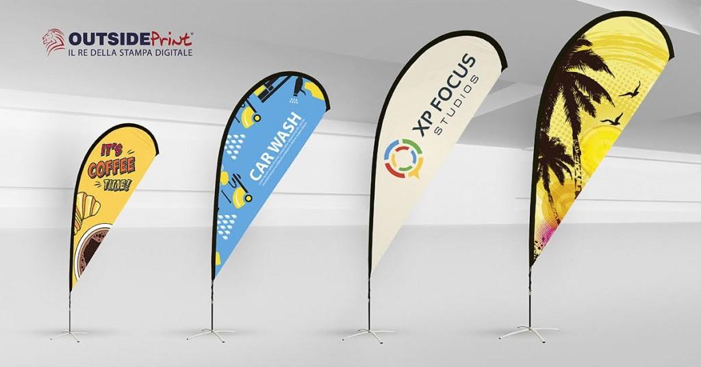 bandiere a goccia personalizzate